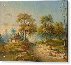 Landscape With Pond Acrylic Print