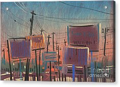 Landscape With Rectangles Acrylic Print