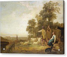 Landscape With Shepherds And Shepherdesses Near A Well Acrylic Print