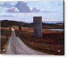 Landscape With Silos Acrylic Print