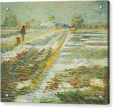 Landscape With Snow Acrylic Print
