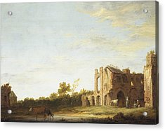 Landscape With The Ruins Of Rijnsburg Abbey Acrylic Print