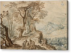 Landscape With Tobias And The Angel Acrylic Print by Jan Brueghel the Younger