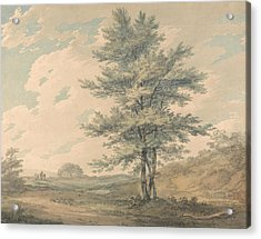 Landscape With Trees And Figures Acrylic Print by Joseph Mallord William Turner