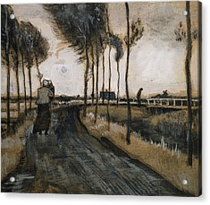 Landscape With Woman And Child Acrylic Print by Vincent Van Gogh