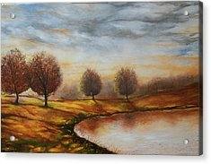 Acrylic Print featuring the painting Landscapes by Emery Franklin