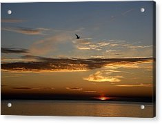 Acrylic Print featuring the photograph Lanesville Sunset by AnnaJanessa PhotoArt
