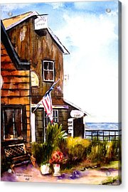 Acrylic Print featuring the painting Langley Washington by Marti Green