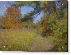 Langwater Farm Tractor Path Acrylic Print