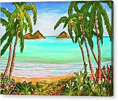 Lanikai Beach Oahu Hawaii #358 Acrylic Print by Donald k Hall