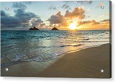 Lanikai Beach Sunrise 2 Acrylic Print by Leigh Anne Meeks