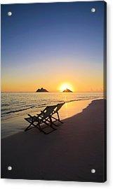 Lanikai Lounging At Sunrise Acrylic Print