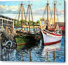 Lannon And Ardelle Gloucester Ma Acrylic Print by Eileen Patten Oliver