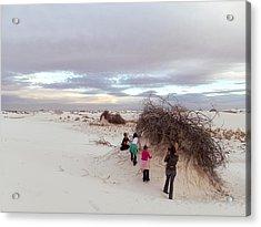 Exploring The Dunes Acrylic Print
