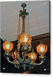 Lantern Chandelier Acrylic Print by DigiArt Diaries by Vicky B Fuller