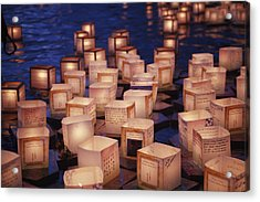 Lantern Floating Ceremony Acrylic Print by Brandon Tabiolo - Printscapes