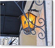 Acrylic Print featuring the pyrography Lantern  by Yury Bashkin