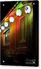 Lanterns Light The Bench Acrylic Print