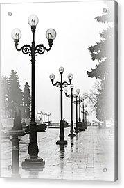 Lanterns Of Mariyinskyi Park. Kyiv, 2015. Acrylic Print