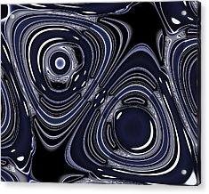 Lapis And Chrome Abstract Acrylic Print