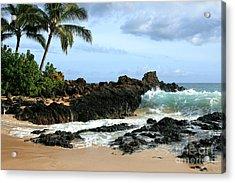 Lapiz Lazuli Stone Aloha Paako Aviaka Acrylic Print