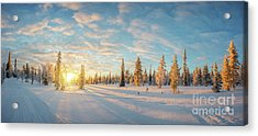 Lapland Panorama Acrylic Print by Delphimages Photo Creations