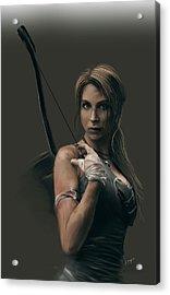 Lara Acrylic Print by Jason Longstreet