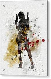 Lara Acrylic Print by Rebecca Jenkins