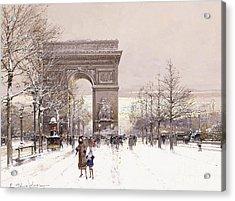 L'arc De Triomphe Acrylic Print by Eugene Galien-Laloue
