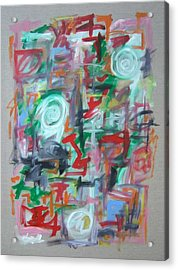 Large Abstract No 2 Acrylic Print by Michael Henderson