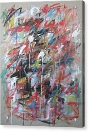 Large Abstract No 4 Acrylic Print by Michael Henderson