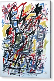 Large Abstract No. 5 Acrylic Print by Michael Henderson