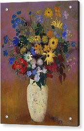 Large Bouquet In A Japanese Vase Acrylic Print