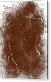 Large Man Backside Acrylic Print by Peter J Sucy