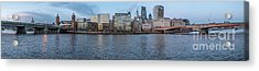 Large Panorama Of Downtown London Betwen The London Bridge And T Acrylic Print