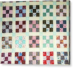 Large Quilt Acrylic Print