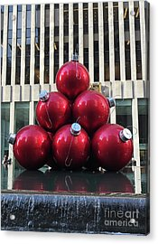Large Red Ornaments Acrylic Print