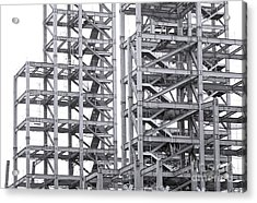 Acrylic Print featuring the photograph Large Scale Construction Project With Steel Girders by Yali Shi