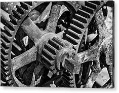 Large Trainyard Gears Acrylic Print
