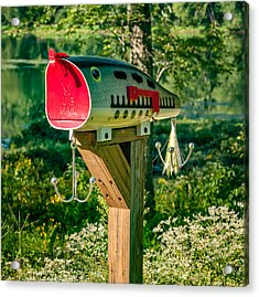 Largemouth Bass Lure Mailbox Acrylic Print by Steve Harrington