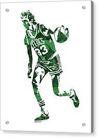 Larry Bird Boston Celtics Pixel Art 10 Acrylic Print