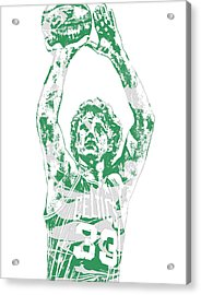 Larry Bird Boston Celtics Pixel Art 5 Acrylic Print