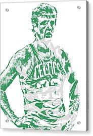 Larry Bird Boston Celtics Pixel Art 6 Acrylic Print