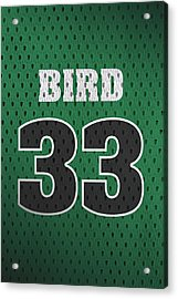 Larry Bird Boston Celtics Retro Vintage Jersey Closeup Graphic Design Acrylic Print by Design Turnpike
