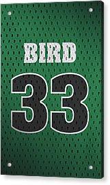 Larry Bird Boston Celtics Retro Vintage Jersey Closeup Graphic Design Acrylic Print