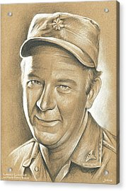 Larry Linville Acrylic Print by Greg Joens