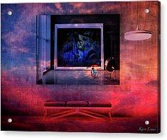 L'artiste Et La Banquette Acrylic Print