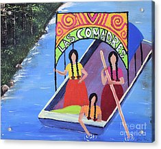 Las Comadres En Xochimilco Acrylic Print