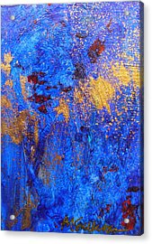 Acrylic Print featuring the painting Las Flores by Mary Sullivan