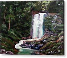 Las Marias Puerto Rico Waterfall Acrylic Print by Luis F Rodriguez